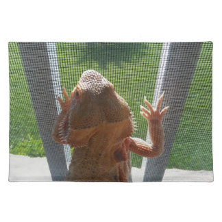 Lizard Lovers Cute Beardie Photo Placemat