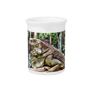 Lizard on a branch beverage pitchers