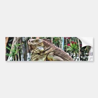 Lizard on a branch bumper sticker