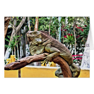 Lizard on a branch card