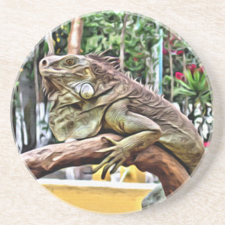 Lizard on a branch coaster