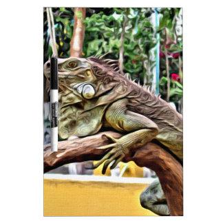 Lizard on a branch dry erase board