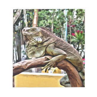 Lizard on a branch notepad