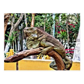 Lizard on a branch postcard