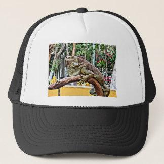Lizard on a branch trucker hat
