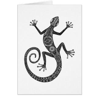 Lizard Or Salamander Doodle Card