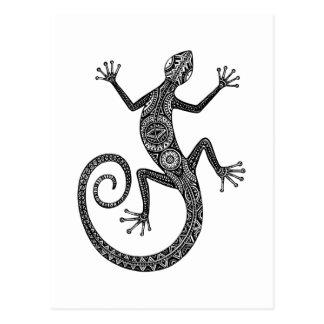 Lizard Or Salamander Doodle Postcard