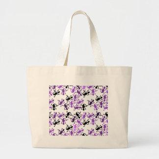 Lizard pattern - purple large tote bag
