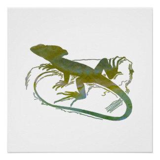 Lizard Perfect Poster