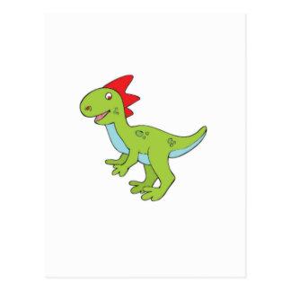 lizard rex dinosaur postcard