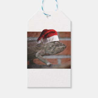 Lizard-Santa-Hat Gift Tags