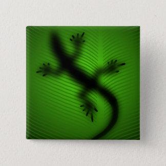 Lizard Silhouette 2 Inch Square Button