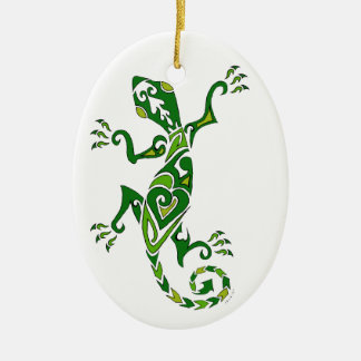 Lizard Tattoo Ceramic Ornament