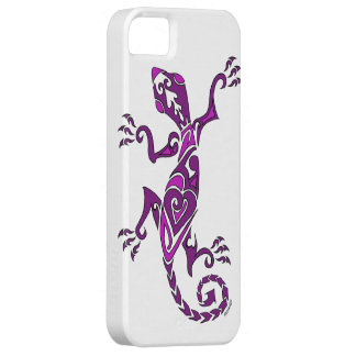 Lizard tattoo/henna in purple iPhone 5 case