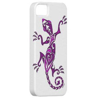 Lizard tattoo/henna in purple iPhone 5 case