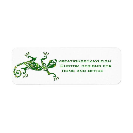 Lizard Tattoo Return Address Label