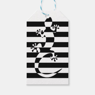 LIZARD WHITE $ BLACK STRAP GIFT TAGS
