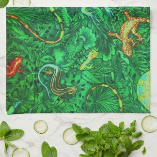 Lizards Batik Kitchen Towel