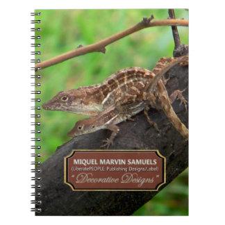 Lizards Loving Decorative Nature Modern Notebook