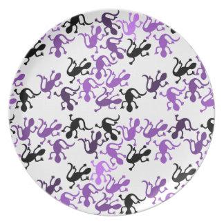 Lizards pattern plate