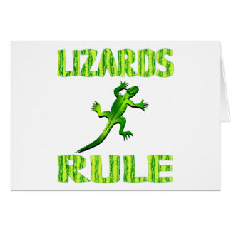 LIZARDS RULE CARD