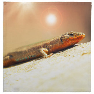 Lizart heat printed napkin