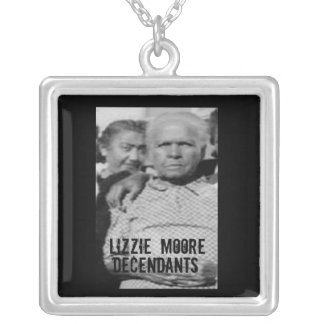 lizzie Moore decendants Silver Plated Necklace