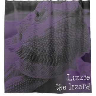 Lizzie the lizard Fun Bearded Dragon Neon Purple