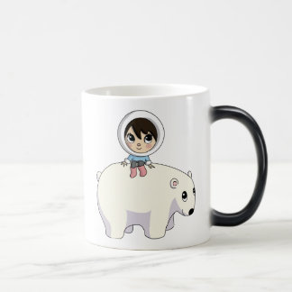 Lizzy and Frosting the Polar Bear 11 Oz Magic Heat Color-Changing Coffee Mug