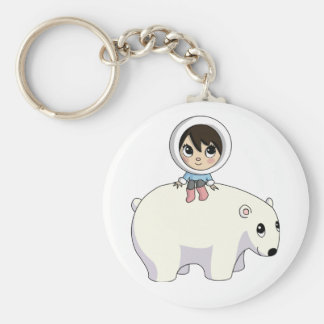 Lizzy and Frosting the Polar Bear Keychain