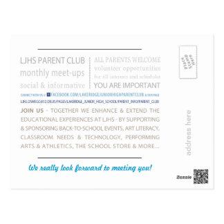 LJHS Parent Club Postcard