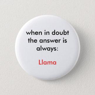 Llama! 2 Inch Round Button