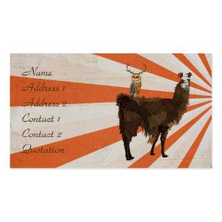 LLAMA & ANTLER OWL  Business Card