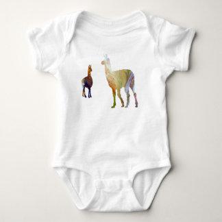 Llama art baby bodysuit