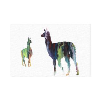 Llama art canvas print