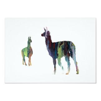 Llama art card