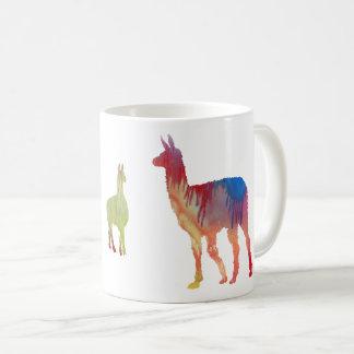 Llama art coffee mug