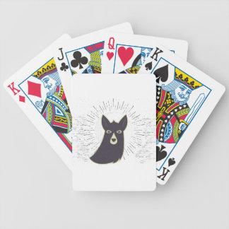 Llama Bicycle Playing Cards