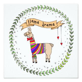 Llama Drama Illustration Card