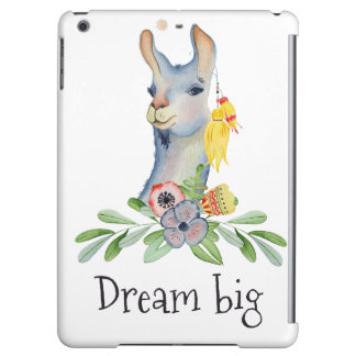 Llama,dream big iPad air case