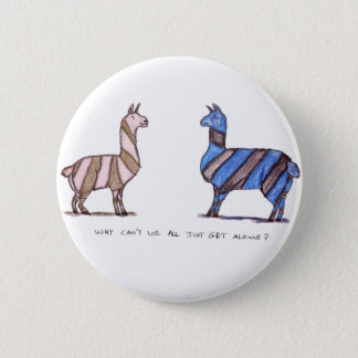 llama dress 2 inch round button