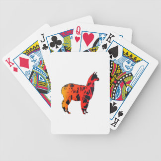 Llama Expressions Bicycle Playing Cards