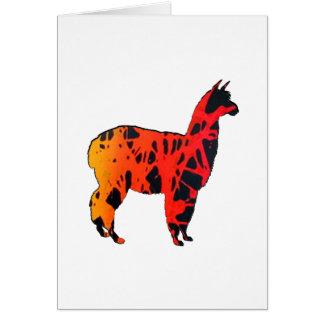 Llama Expressions Card