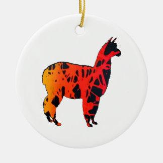Llama Expressions Ceramic Ornament