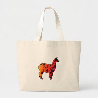 Llama Expressions Large Tote Bag