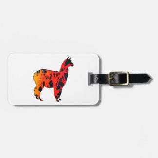 Llama Expressions Luggage Tag