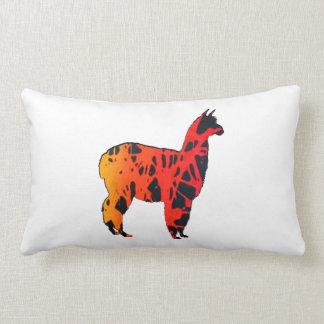 Llama Expressions Lumbar Pillow
