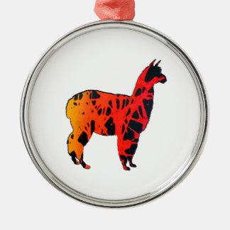 Llama Expressions Metal Ornament