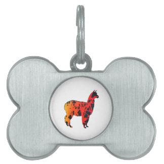 Llama Expressions Pet Tag