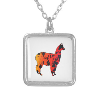 Llama Expressions Silver Plated Necklace